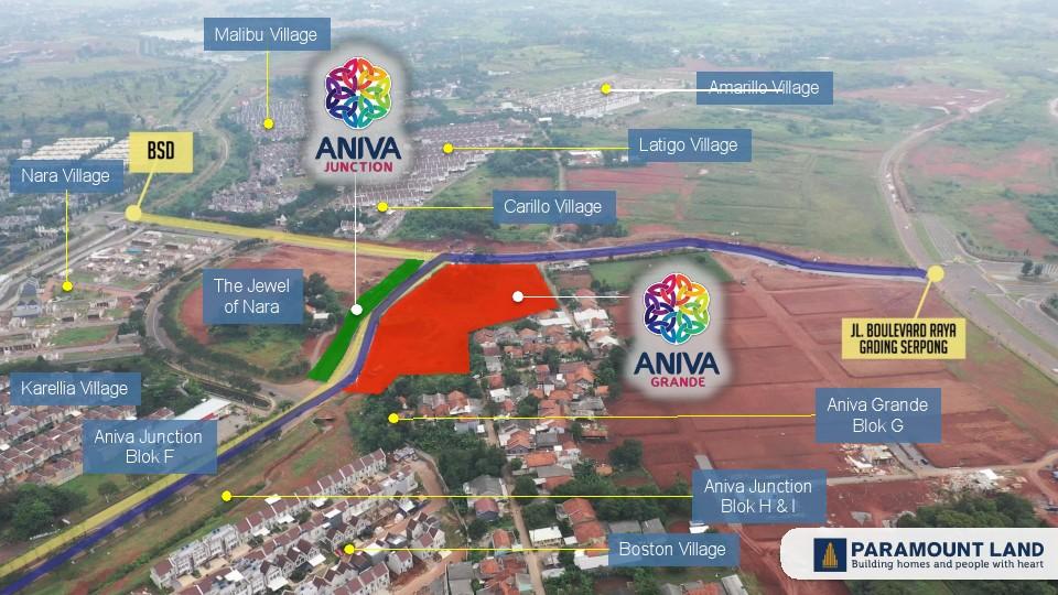 lokasi ruko aniva junction extension